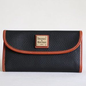 Dooney & Burke Leather Clutch Continental Wallet